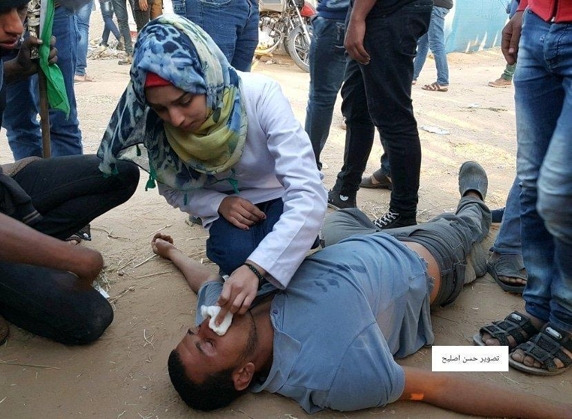 treating an injured Palestinian